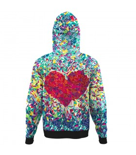 love heart All Over Printed Hoodie