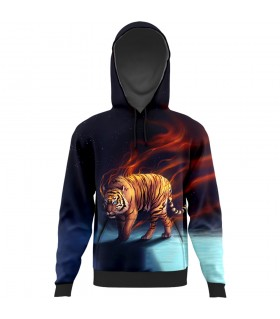 tiger All Over Printed Hoodie