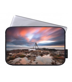red sky sea art printed laptop sleeves