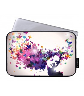 butterfly hair art printed laptop sleeves