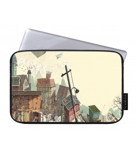 pole art printed laptop sleeves