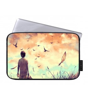 alone boy art printed laptop sleeves