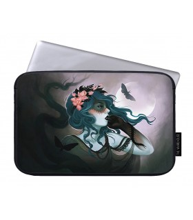 night girl art printed laptop sleeves