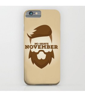 no shave november art printed mobile cover