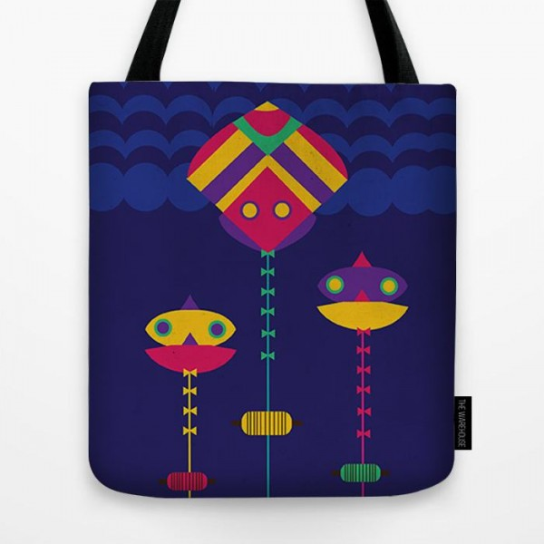 Desi Kite Art Printed Tote Bag