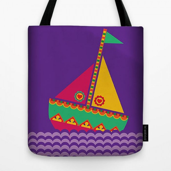Desi Ship Art Printed Tote Bag