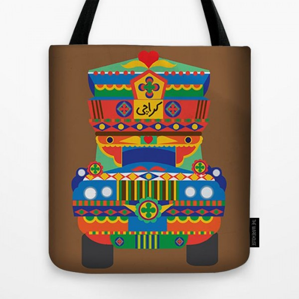 Karachi Truck Art Printed Tote Bag