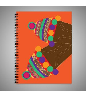 desi shoes art printed notebook