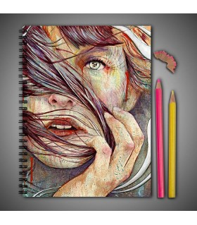 painting art printed notebook