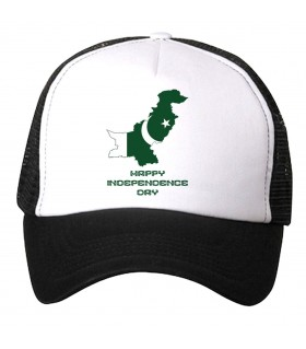 happy independence printed cap
