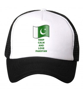 keep calm and love pakistan printed cap
