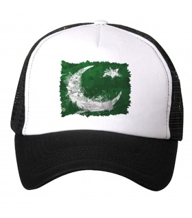 pakistan flag printed cap