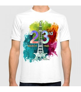 23rd march pakistan day printed graphic t-shirt