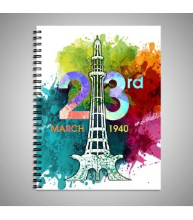 23rd march pakistan day printed note book