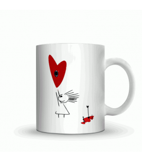 playing arrow love couple art printed mug