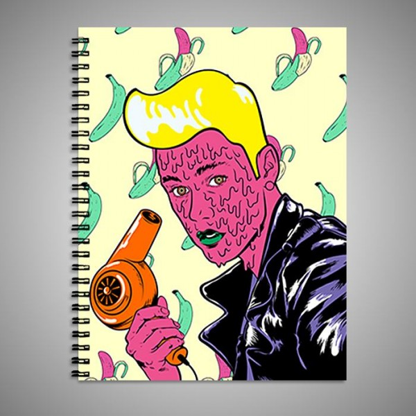 justin bieber art printed notebook