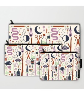 BORED art printed pouch bag