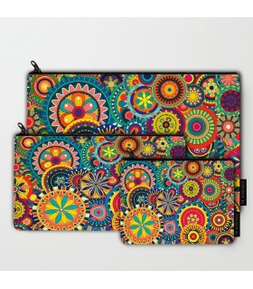 Colorful Pattern art printed MAKEUP POUCH