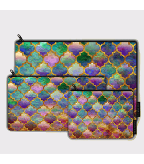 Moroccan Mosaic Pattern art printed MAKEUP POUCH