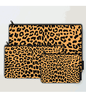 cheeta art printed pouch bag