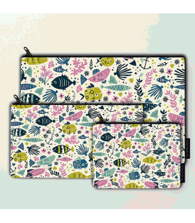 fishes art printed MAKEUP POUCH