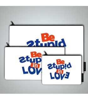be stupid art printed MAKEUP POUCH