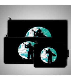 cloud cover art printed pouch bag