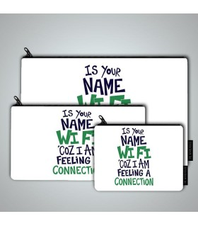 is your name art printed pouch bag
