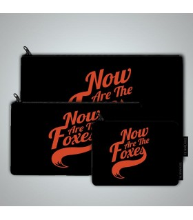 now are the foxes art printed pouch bag