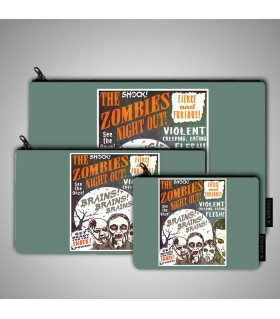 The Zombies Night Out art printed pouch bag