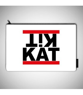 kit kat art printed pouch bag