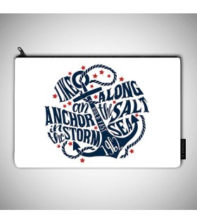 like an anchor art printed pouch bag