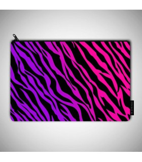 animal print art printed pouch bag