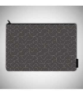 black waves art prinetd pouch bag