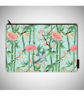 jungle art printed MAKEUP POUCH