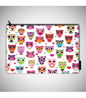 owl art printed MAKEUP POUCH