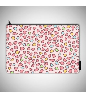 pink leopard art printed MAKEUP POUCH