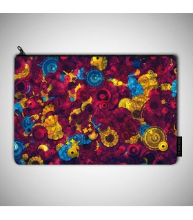 abstract Colorful art printed pouch bag
