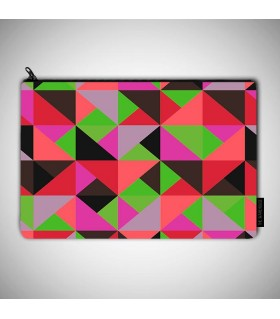 color triangle art printed MAKEUP POUCH