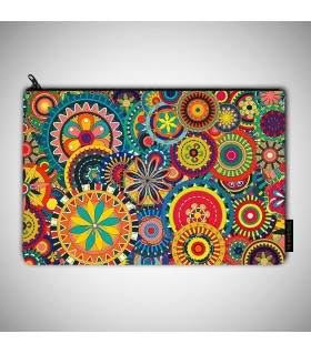 Colorful Pattern art printed pouch bag
