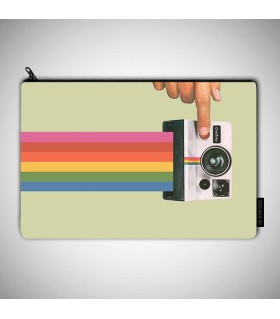 stylish vintage camera art printed MAKEUP POUCH