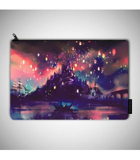 Tangled Lanterns Scene art printed MAKEUP POUCH