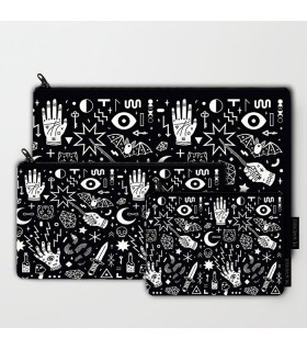 tattoo tapestry art printed MAKEUP POUCH