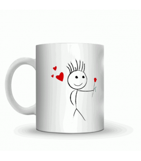 propose love couple art printed mug