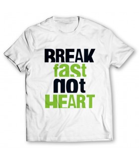 break fast printed graphic t-shirt