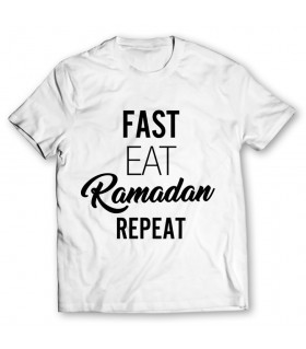 fast eat printed graphic t-shirt