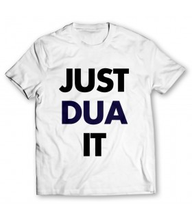 just dua it printed graphic t-shirt
