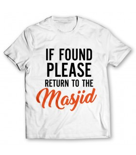 return of the masjid printed graphic t-shirt