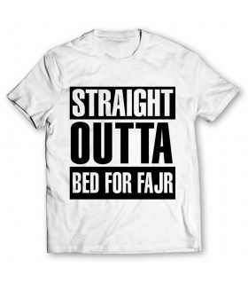 straight outta printed graphic t-shirt