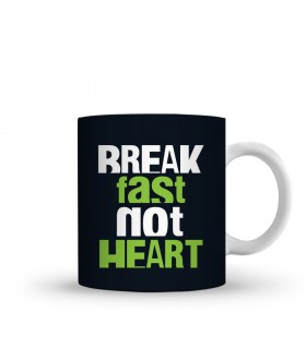 break fast printed mug